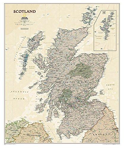 Schottland Executive, laminiert: NATIONAL GEOGRAPHIC Länder und Regionen: Wall Maps Countries & Regions (National Geographic Reference Map)