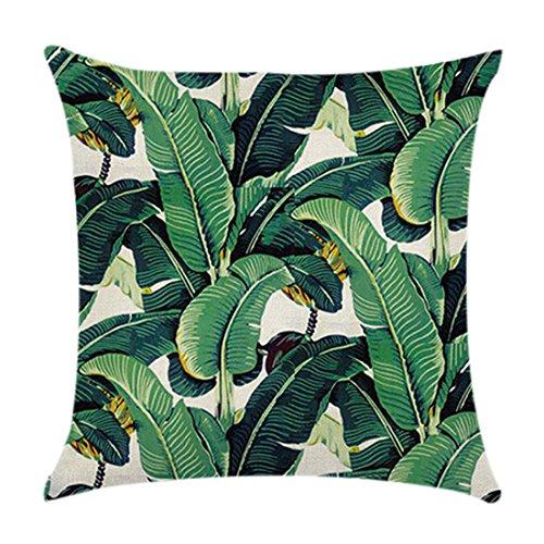 Housse de coussin Plantes tropicales vertes