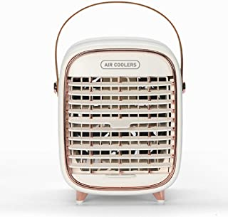 NZ Mini Air Cooler USB Mobile Air Conditioner con Mango portátil con purificador, humidificador, Ventilador de Escritorio, refrigeración para el hogar, la Oficina y el Exterior-Blanco