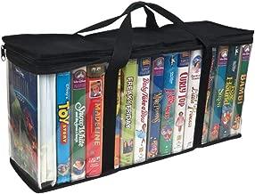 Imperius VHS Clear Storage Bag -Movie Organizer-Video Tape -Handles -Moistureproof -Dustproof -Blcak