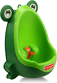 Foryee Cute Frog Potty Training Urinal for Boys with Funny Aiming Target – Blackish Green