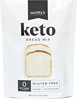 Keto Bread Zero Carb Mix - Keto and Gluten Free Bread Baking Mix - 0g Net Carbs Per Serving - Easy to Bake - No Nut Flours...