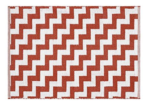 Creative Carpets tapijt voor binnen en buiten Modern design 200 x 300 cm Rood/Wit