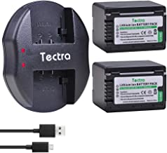 Tectra 2 Packs VW-VBT380 Batteries and Dual USB Charger for Panasonic HC-V210, HC-V250, HC-V380, HC-V510, HC-V520, HC-V550