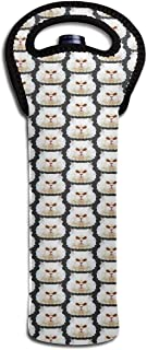 Single-Bottle Wine Carrier Tote Bag Fierce Persian Cat Thermal Wine Bottle Cooler Carrier for Travel, Picnic Protective for Transporting Wine
