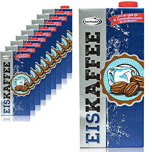 Hochwald - 10er Pack Premium Eiskaffee 1,5% fettarm in 1 Liter Packung - Ice Coffee als Kaltgetränk - Aromatisches Milchgetränk mit Kaffee