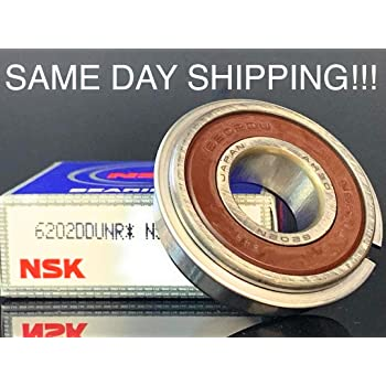 6205 2RS NR Snap Ring Radials Bearing Pack of 2