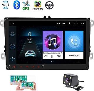 "Double Din Car GPS Navigation Head Unit 9"" Touch Screen for VW Skoda Octavia Golf Touran Passat B6 Jetta Polo Tiguan in Dash Autoradio Android Car Radio Support Bluetooth WiFi+ Rear View Camera"
