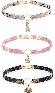 TIDOO Jewelry Japanese Style Cloth Chocker for Women Cute Tassel Chocker for Girls Pendant Chocker