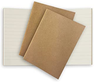 Lined Pocket Traveler's Notebook Journal Paper Refills 3 Pack Cream Ruled Inserts for Small Passport Refillable Leather Travel Journals - 5 x 3.65. Soft Cover Thick Spare Grid Paper TN Travel Diary