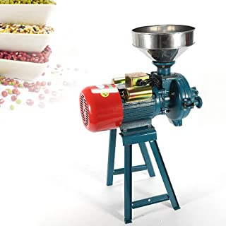 Mill Grinder, 220V 1500W Electric Grain Dry Feed Flour Milling Machine Cereals Grinder Rice Corn Grain Coffee Wheat with Funnel (US Shipping)