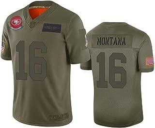 Mens San Francisco 49ers #16 Joe Montana Camo 2019 Salute to Service Limited Jersey