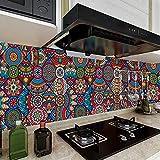Vinilos Pared Cocina Mandala De Arte Vintage Vinilo Adhesivo Cenefas Adhesivas Baño Cocina Azulejos Decorativos Adhesivos Ba?o DIY Mueble20P,20cm x 20cm