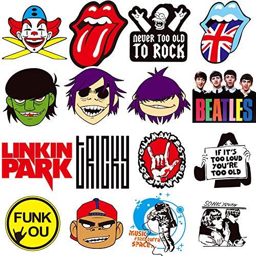 Rock Band Aufkleber 100 Stück/Packung Aufkleber Variety Vinyl Cool Aufkleber Motorrad Fahrrad Gepäck Aufkleber Graffiti Patches Skateboard Aufkleber für Laptop Aufkleber für Kinder und Erwachsene