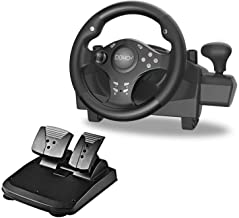 $85 » Gaming Racing Wheel with Responsive Gear and Pedals, 270 Degree Rotation Pro Sport, Compatible with PC / PS3 / PS4 / XBOX ...