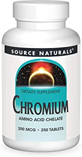Source Naturals Chromium, Amino Acid Chelate - Dietary Supplement - 250 Tablets