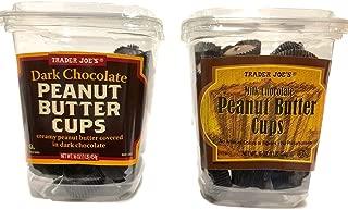 Trader Joe's Dark Chocolate and Milk Chocolate Peanut Butter Cups, Two Tub Bundle