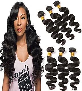 9A Body Wave Bundles Brazilian Hair 3 Bundles Body Wave 22 24 26 Inch 300g Human Hair Weave Extension Double Weft Natural Black Cheap Wholesale Bundles For Women