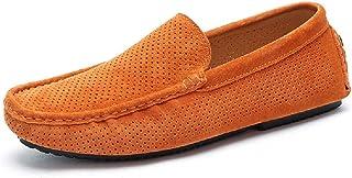 Mocassins Évidés Hommes Mocassins D'été Chaussures Conduite Plates À Enfiler Chaussures Bateau en Daim Chaussures Soirée ...