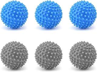 LxwSin Balles de Séchage, Balles de Sèche-linge, 6 Pièces Balles de Séchage Réutilisables pour Sèche-linge, Boules de Séch...