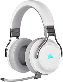 Corsair VIRTUOSO RGB WIRELESS, High-Fidelity Gaming Headset, Biały