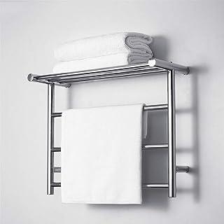 Toallero HLF eléctrico de Acero Inoxidable - Radiador de baño para el hogar 61x48cm baño Cocina Montaje en Pared 35w Estante de Almacenamiento