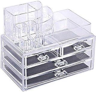 منظم مستحضرات التجميل من البلاستيك شفاف متعدد الاقسام بسيط مريح لتنظيم ادوات المكياج