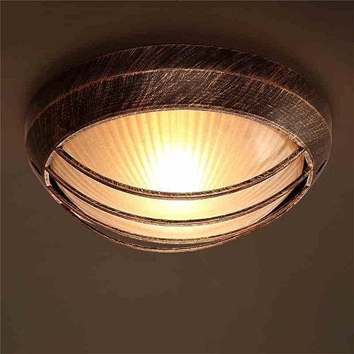 Lampes de plafond rétro Creative Restaurant Coffee Shop étude Chambre Couverture en maille de verre éclairage