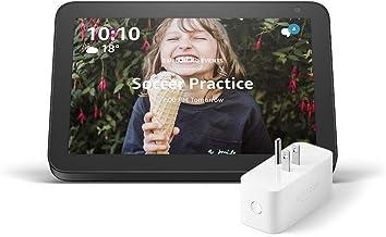 Echo Show 8 (Charcoal) with Amazon Smart Plug