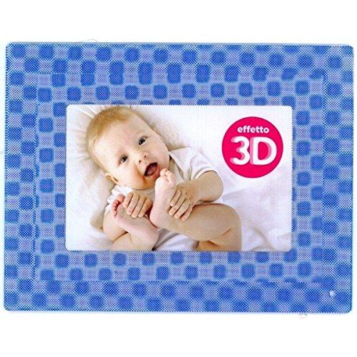 Cadre photo porte photos 3 D Bleu bébé Idéal baptême naissance