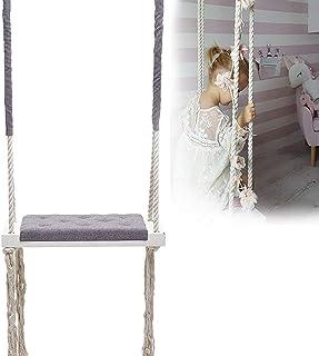 GBHJJ inomhus schaukel baby, barnschaukel inomhus, interiör i ett barnrum dekorerad med underhållning tak gunga säte med j...