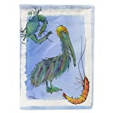 Caroline's Treasures 8038CHF Bird - Pelican Flag Canvas House Size, Large, Multicolor