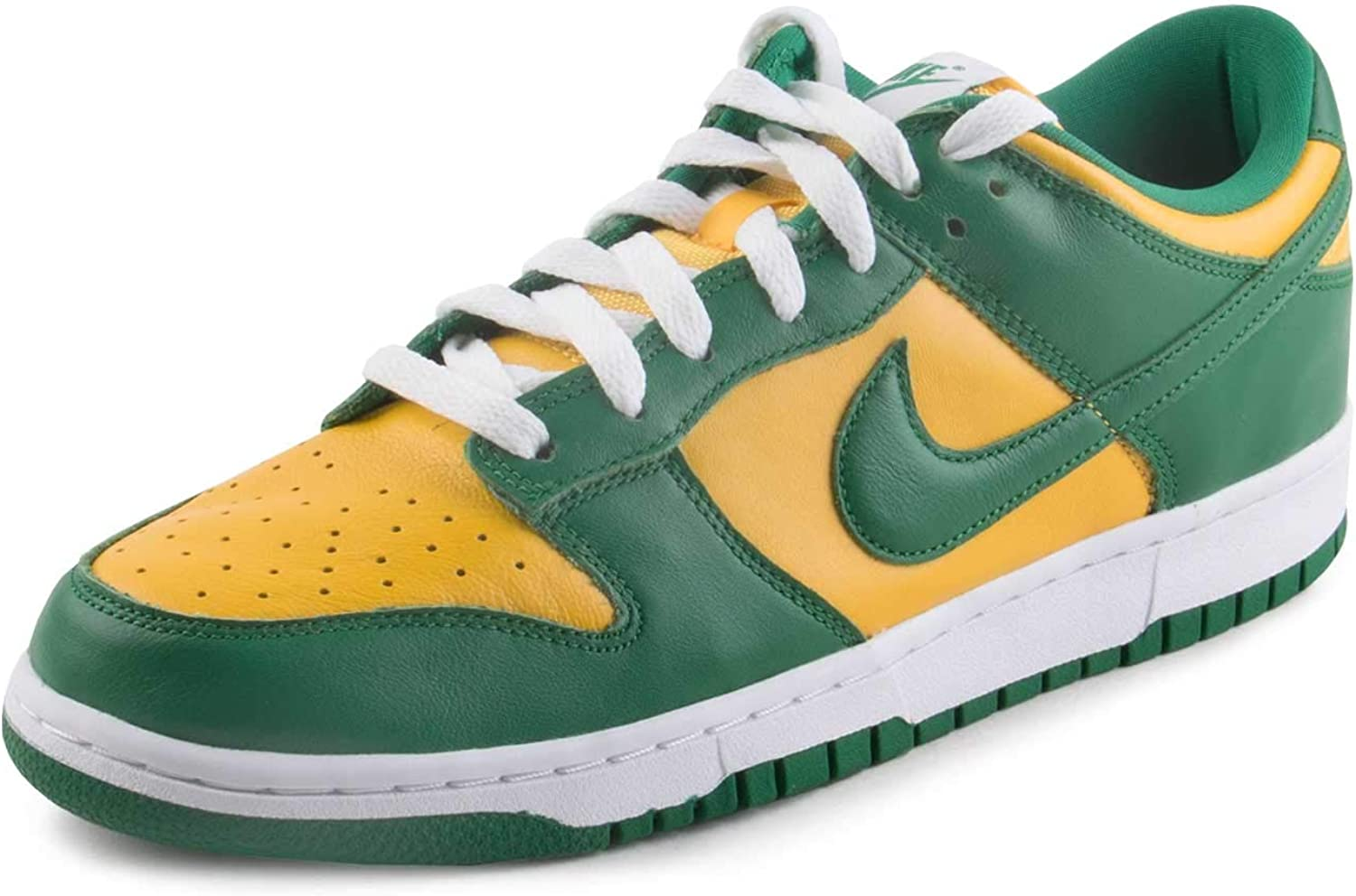 Nike Inexpensive Mens Dunk Low SP Brazil Varsity Leather Super Special SALE held Maize Si Pine Green