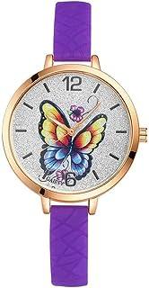 Wristband Women's Wrist Watches Ladies Series Girls Watch Female for Women Butterfly dial Quartz Silica Gel Watch,Colour N...