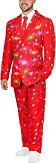 LED Light Up Ugly Christmas Sweater 3-Piece Holiday Party Suit