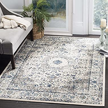 Safavieh Evoke Collection EVK220D Vintage Oriental Grey and Ivory Area Rug (8' x 10')