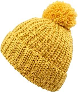 LLmoway Kid Toddler Boys Girls Winter Knit Hat Soft Warm Pom Skull Cuff Beanie