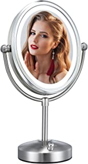 Professional 8'' Lighted Makeup Mirror, VESAUR Oval 7X Magnifying LED Vanity Mirror with 28...
