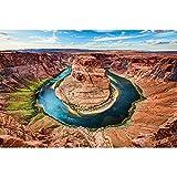 GREAT ART® Mural De Pared – Curva De Herradura – Gran Cañón Estados Unidos Horseshoe Bend Landscape América Arizona Nature Colorado River Papel Tapiz Y Decoración (210 X 140 Cm)