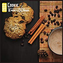 Cookie Calendar 2022: 18 Month Calendar Cookie, Square Calendar 2022, Cute Gift Idea For Cookie Lovers Women & Men, Size ...