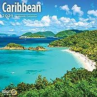 Bright Day Calendars 2021カリブ海の壁カレンダー バイ 明るい日、12 x 12 インチ、島旅行先ビーチサニー