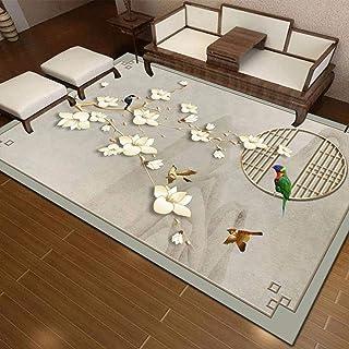 Tapis Chambre Tapis de Salon Style Moderne Fleur Blanche Chinoise Chambre d'enfants, Grand Tapis pour la décoration de la ...