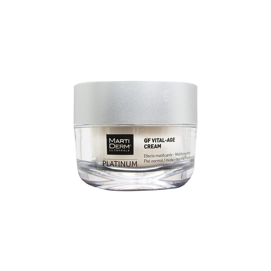 繰り返した永続緊急Martiderm Platinum Gf Vital-age Normal To Combination Skin Cream 50ml [並行輸入品]