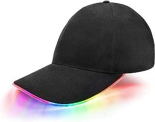 jiguoor LED Kappe Base Cap Schildmütze Einstellbarer Hut Baseball Blitz Käppi mit LEDs Blinkt für Party Club Bar Sportlich Reise Tour Sport Golf Hip-Hop LED-beleuchtet,LED-Taschenlampen Hüt
