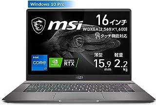 【RTX3060搭載・クリエイター/ゲーミング】MSIノートPC i7-11800H/RTX3060/16WQXGA/DCI-P3相当/タッチ対応/32GB/1TB/Creator-Z16-A11UET-001JP【Windows 11 無料ア...
