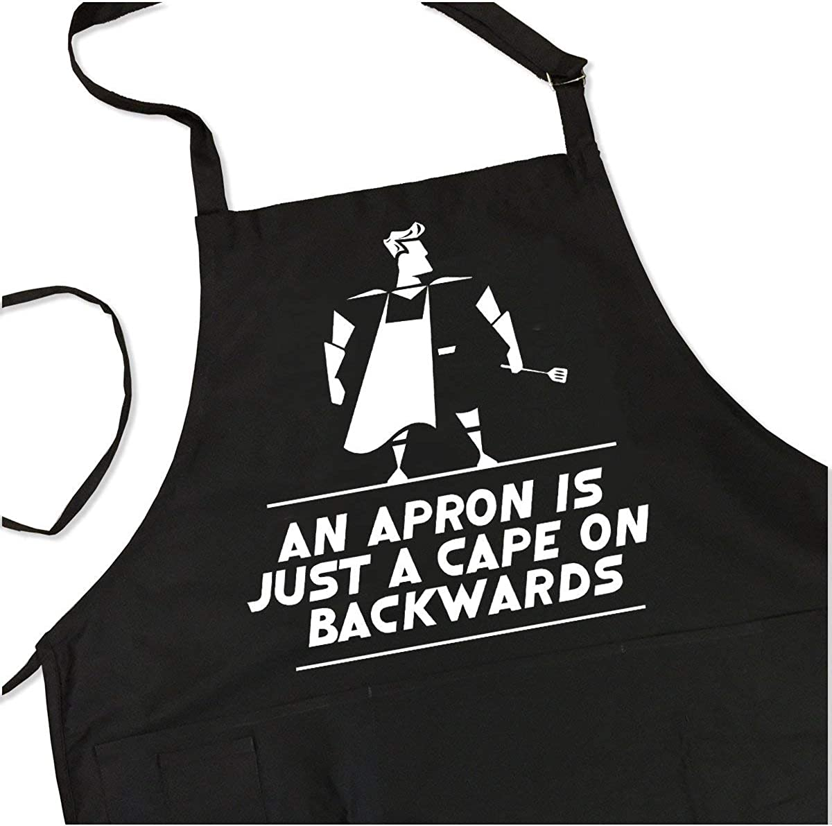 ApronMen Just a Cape BBQ Grill One Adjustable Men Super Special SALE held for Outlet sale feature Si Apron