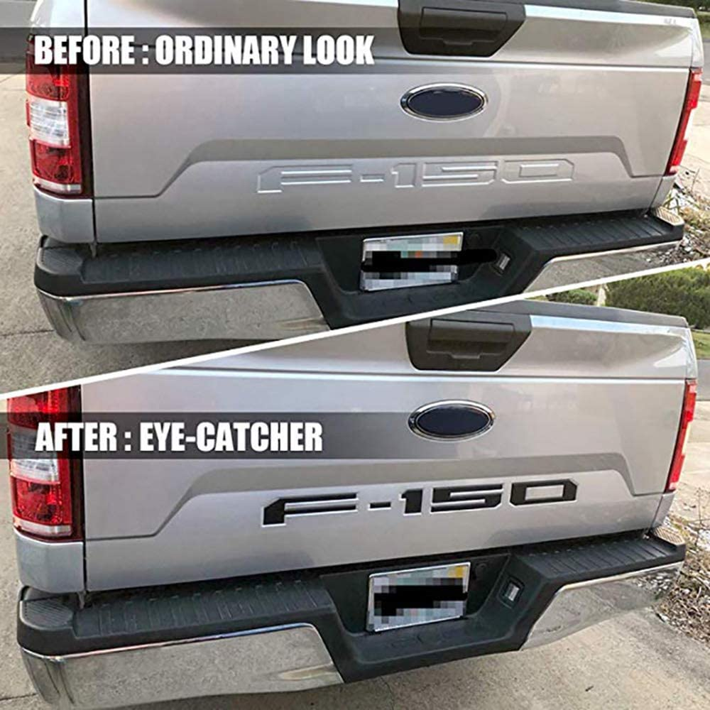 Black F150 Tailgate Insert Letters Compatible with F150 2018 2019 2020-3M Adhesive /& 3D Raised Tailgate Decal Letters
