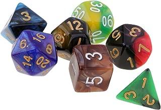 Hellery 6 St/ücke 60 Seitige W/ürfel D60 Polyhedral W/ürfel F/ür Dungeon /& Dragons RPG Brettspiel