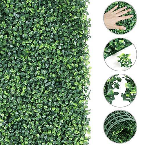 Eeneme Künstliche Pflanze Zaun Simulation Rasen Panels Künstliche Spalier Screening Faux Buchsbaum Matten 40 * 60Cm Grünen Zauberstab Hintergrund für Startseite Freien Garten Privatsphäre