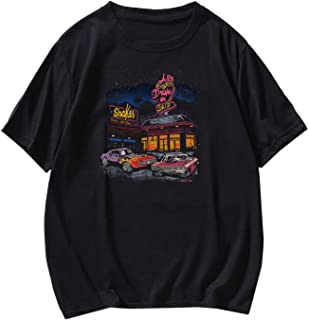 Sponsored Ad - SOLY HUX Men's Letter Car Graphic Print Short Sleeve T Shirt Casual Tee Top